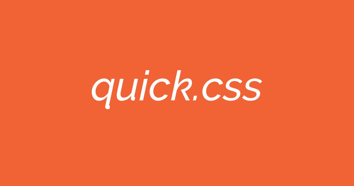 quick css visual